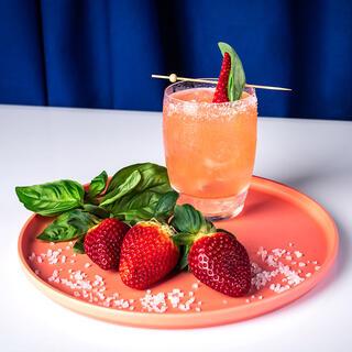Strawberry Basil Margarita cointreau