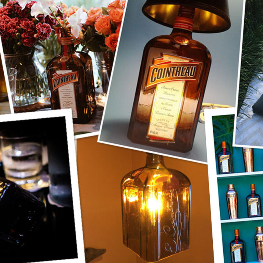Clever ideas to Upcycle your empty bottles of Cointreau
