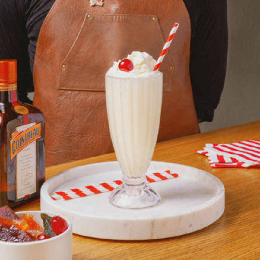 milkshake with cointreau
