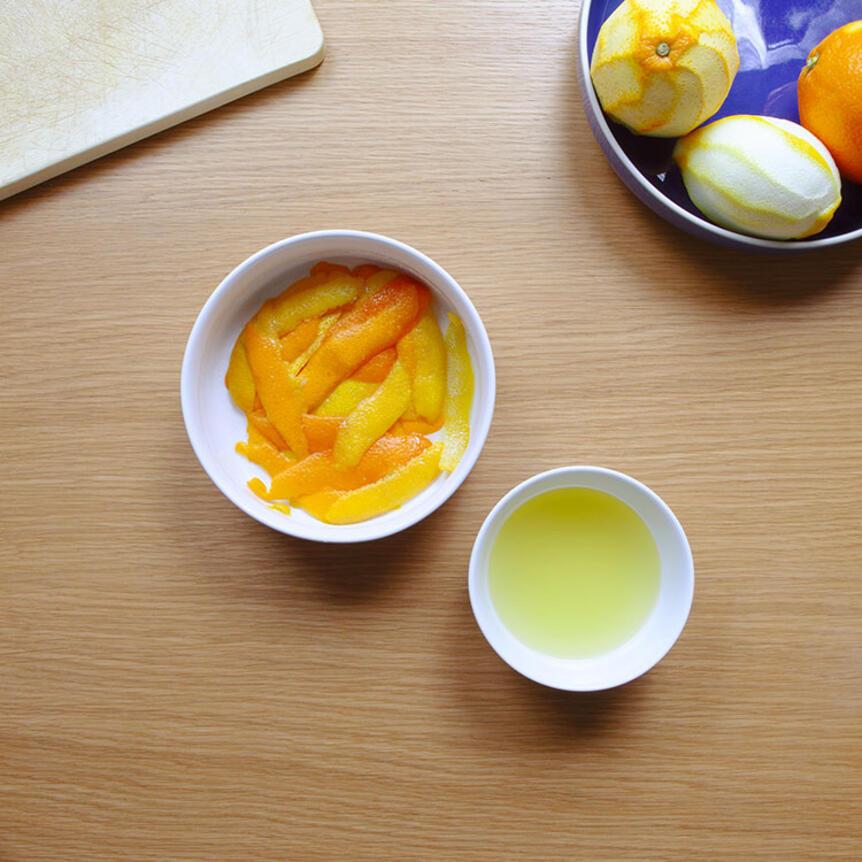Wie man Orangenschalen verwendet