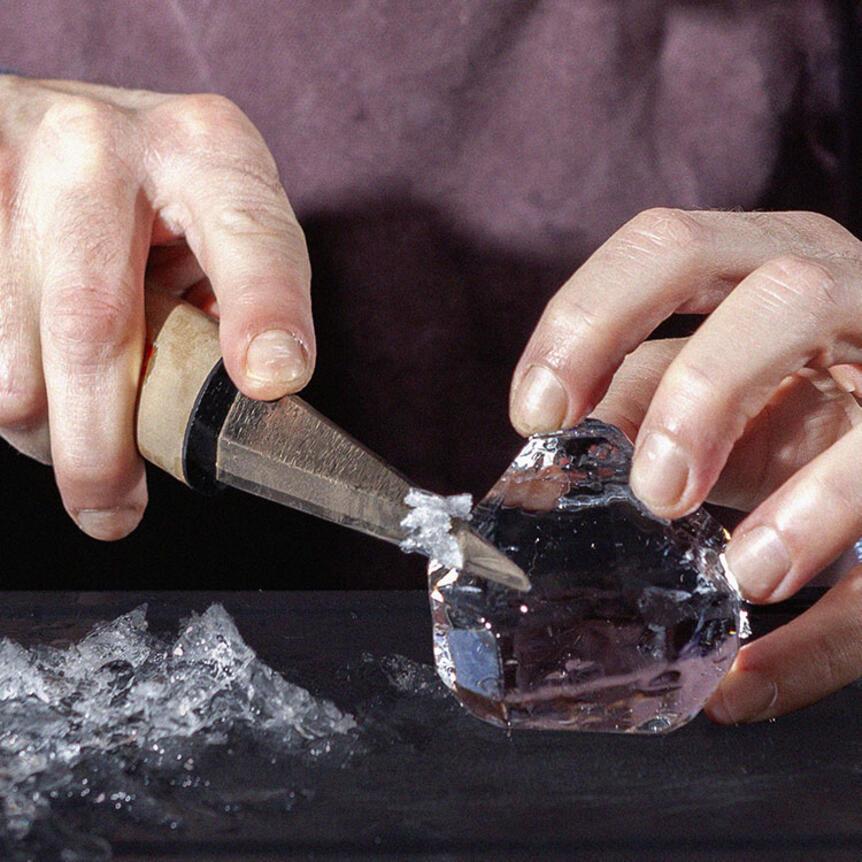 Comment réaliser un glaçon en forme de diamant