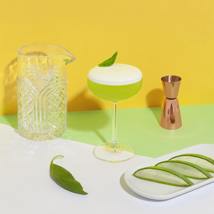simple basil cocktail