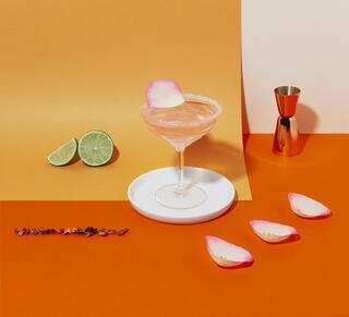 Spring margarita cointreau cocktail