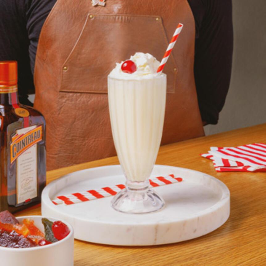milkshake with cointreau