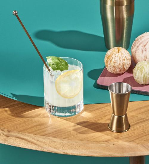 Lemon Basil Margarita Cocktail Recipe